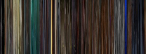 ryanpanos:  Movie Bar Code Compresses Entire Movies Into Barcodes  Movie Bar Code is based on a simple but amazing concept - take every frame in a movie and compress it into a line. Then put them next to each other and you get a barcode of the movie. Movie Bar Code is brilliant because it gives an interesting perspective into the color palette used by different movies. Kill Bill vol. 1