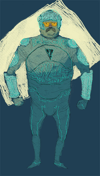 Tron Guy. art by Louis Roskosch :: via flickr.com