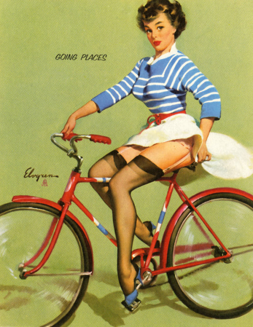 """Going Places"" by Gil Elvgren 1959"