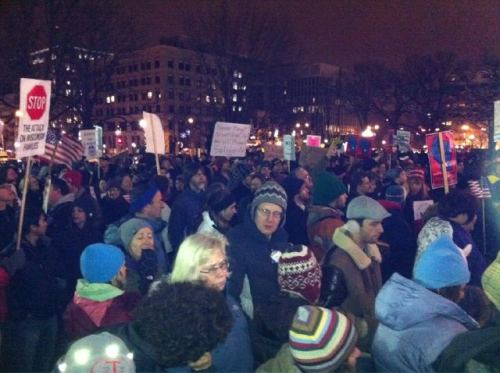 quickhits:  The crowd on King St. in Madison at this very moment. This is the size of the crowd we can turn out at the drop of a hat. Be afraid, Republicans. Be very afraid of that ballot box.