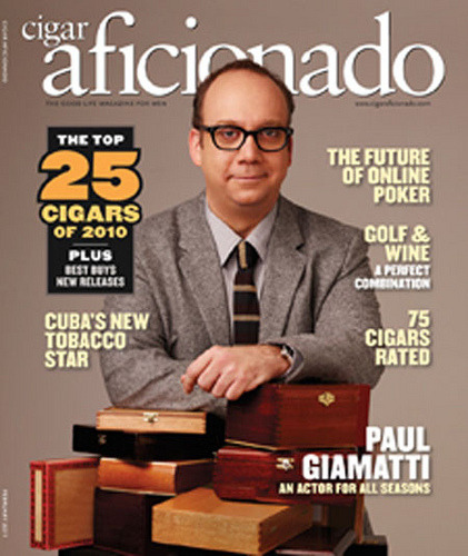 Paul Giamatti Cigar Aficionado  Assistant to Mark Holmes