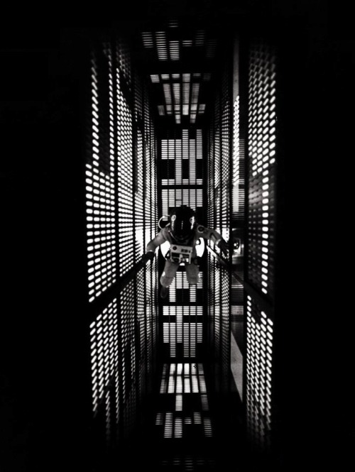 "2001: A Space Odyssey (1968, dir. Stanley Kubrick) ""I think that 2001, like music, succeeds in  short-circuiting the rigid surface cultural blocks that shackle our  consciousness to narrowly limited areas of experience and is able to cut  directly through to areas of emotional comprehension. In two hours and  twenty minutes of film there are only forty minutes of dialogue. I think one of the areas where 2001 succeeds is in stimulating thoughts about man's destiny and role in the universe in the minds of  people who in the normal course of their lives would never have considered  such matters. Here again, you've got the resemblance to music; an Alabama  truck driver, whose views in every other respect would be extremely narrow,  is able to listen to a Beatles record on the same level of appreciation and  perception as a young Cambridge intellectual, because their emotions and  subconscious are far more similar than their intellects. The common bond  is their subconscious emotional reaction; and I think that a film which can  communicate on this level can have a more profound spectrum of impact than  any form of traditional verbal communication. The problem with movies is that since the talkies the film industry has historically been conservative and word-oriented. The three-act play has  been the model. It's time to abandon the conventional view of the movie as  an extension of the three-act play."" -Kubrick, quoted in Stanley Kubrick: Interviews (1970)"