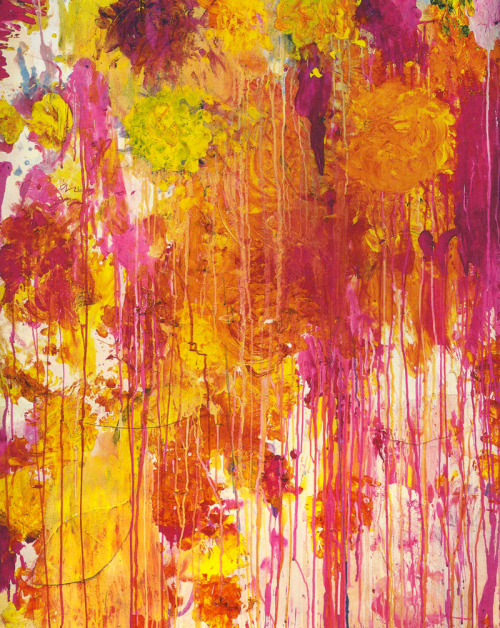 toynbeeconvector:byronic:   Cy Twombly, Untitled (2001) - The Natural World exhibition series at The Art Institute of Chicago