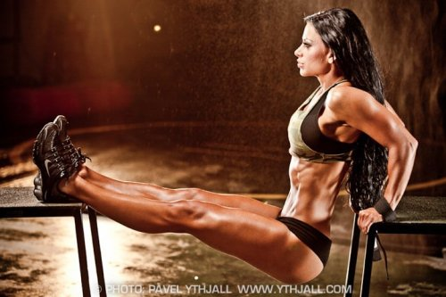 rippedandfit:  Do this at home!  Just make sure to push upwards, not outwards.  Otherwise the chair might slide out from under you.
