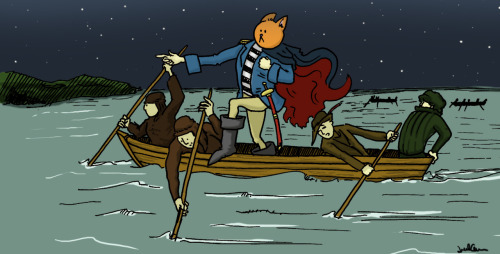 Kittenface crosses the Delaware by Jared Cullum of Pea Green Coffee Cup.