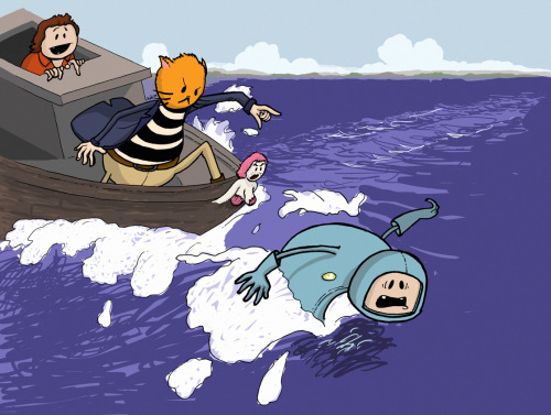 The chase is on! Created by Josh Bauman of Caffeinated Toothpaste
