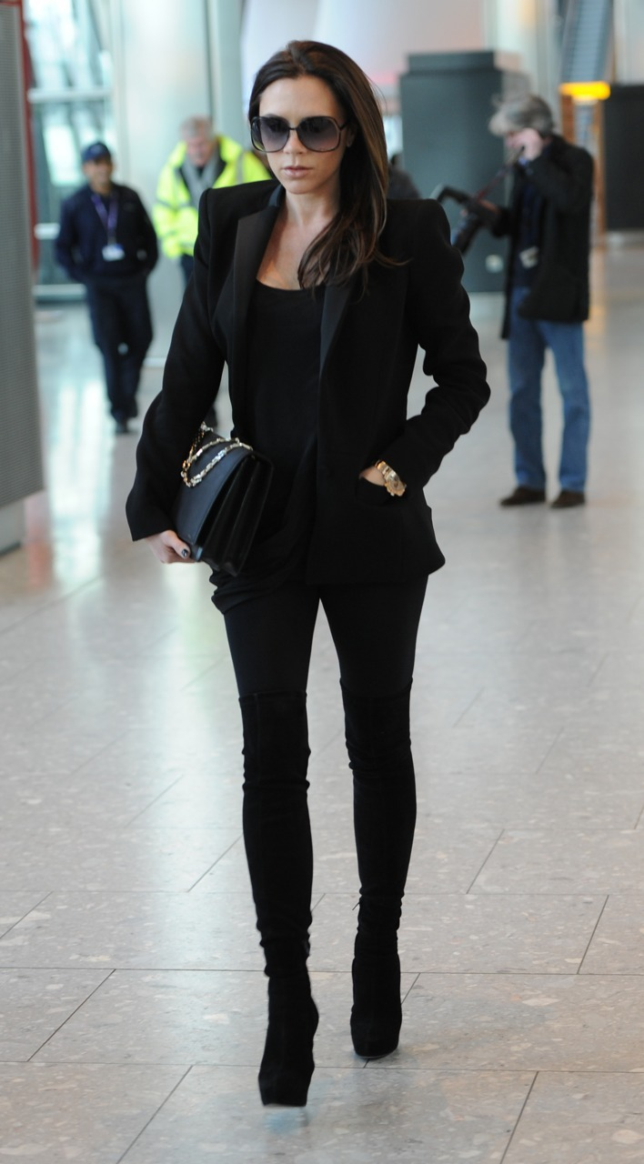 Victoria Beckham at Heathrow airport in London - March 8, 2011