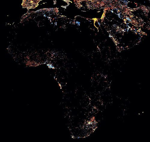 fyeahafrica:  Lights & electricity in Africa.