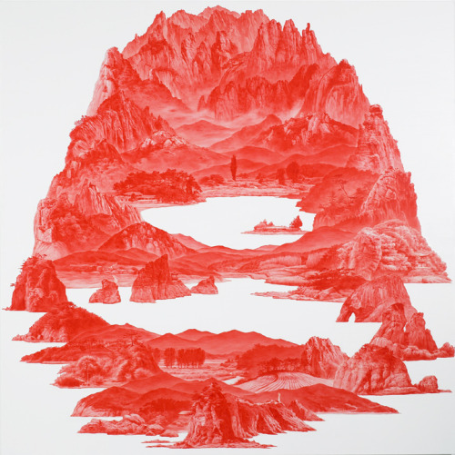 "Sea Hyun Lee - ""Between Red-46, 2008"""