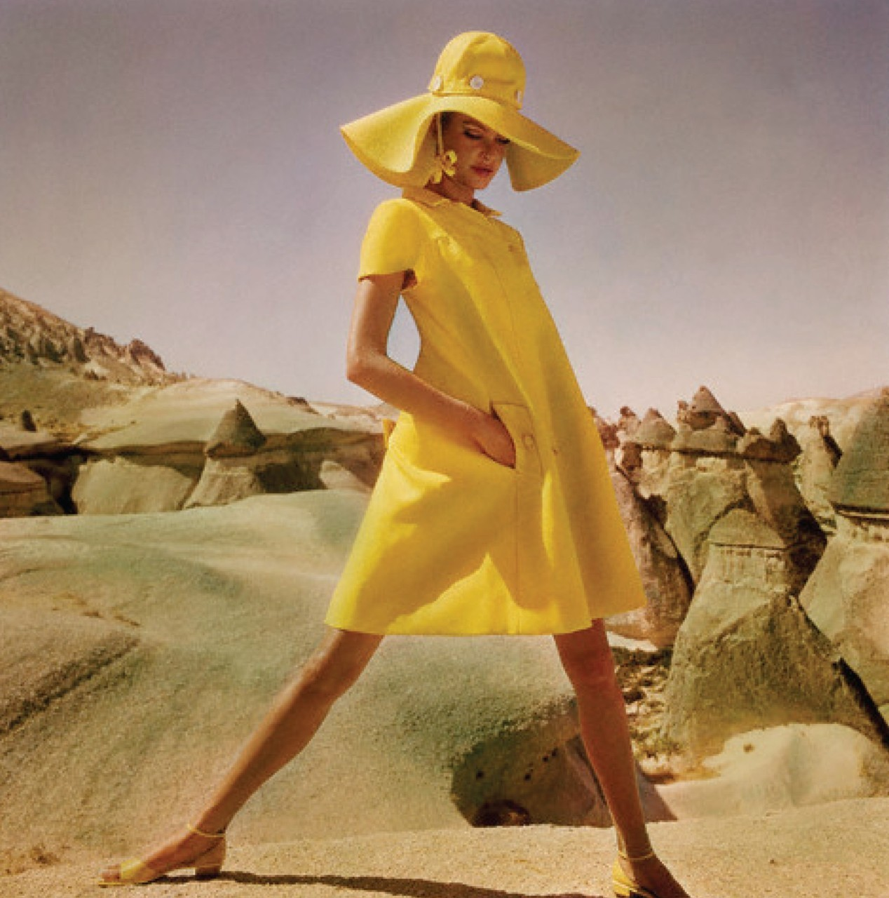 duptin:  yellow wrap coat by Hanna Troy, 1962