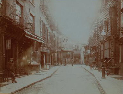 Doyers Street, Chinatown, 1890 via VanishingNY