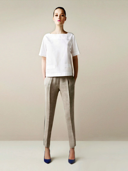 Strong lines and structure. Love it. lipstickonyourpillowcase:  Zara S/S 2011 Lookbook. So, so perfect.
