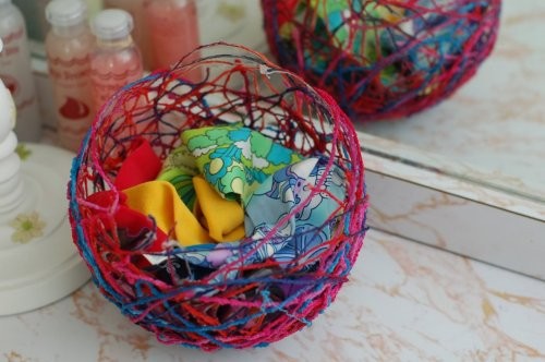 Yarn basket.