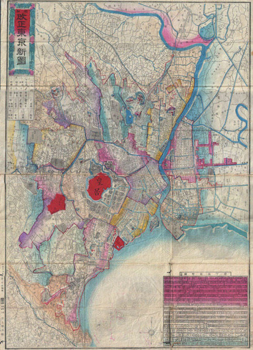 cartographymaps: Unknown, 1886, TokyoClick here to zoom in