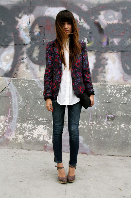 i love this blazer. printed and bold but not in your face crazy