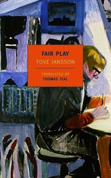 "hmhlit:  ""Despite the quietude of Fair Play, it is nevertheless a work of remarkable courage. Jansson's is not the flashy sort of artistic boldness that proclaims itself by way of constant transparency and self-revelation. Rather, she is brave enough to occasionally withhold information, to provide confidential glimpses into her characters' lives, while still maintaining a distance from them—a sort of respectful privacy."" -Larissa Kyzer reviews Fair Play by Tove Jansson over at Three Percent   My heart just melted a little. I didn't know NYRB had another Jansson coming out. I adore (x100) The True Deceiver and The Summer Book by her. This quote captures one of the many, many things I love about Jansson—that distance between the narration and the characters. There is also a quiet, lurking cruelty that runs through her work. Reading Jansson is like sitting next to a knife, knowing if you move too quickly it could slice you, so you'd better stay still, quiet. Anyway, buying Fair Play as soon as it comes out. (March 15th!! I love when I'm not forced to wait too long…) also, moomin!"
