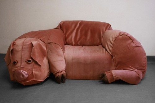 etsy:  Domestic Pig Couch & Sculpture by PaviaBurroughs on Etsy
