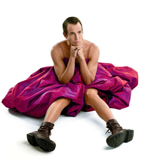 Will Arnett in a beautiful pink fluffy dress. His expression of innocence makes this for me. It's my desktop background.