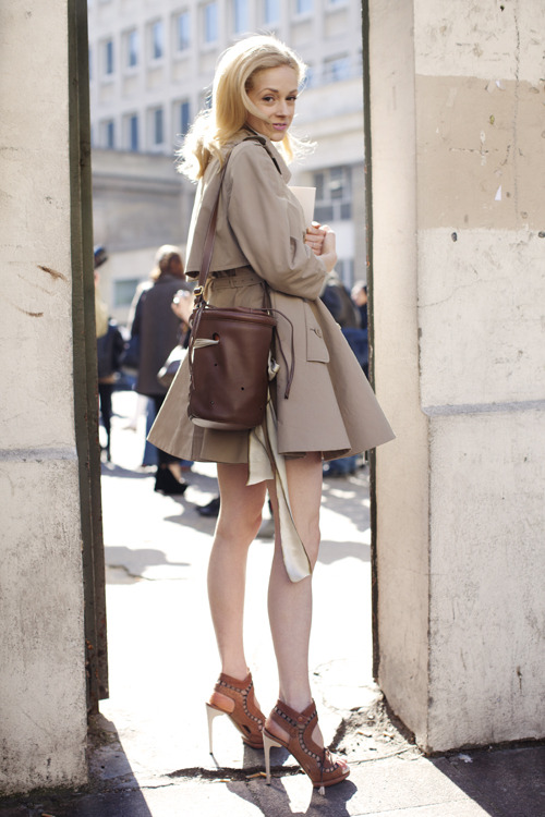 couturecourier:  Love everything about this outfit. The trench, the bag, the shoes!  (via The Sartorialist: On the Street…rue de l'Ecole de Médecine, Paris)