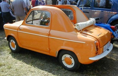 Orange 1958 Vespa 400 Cabriolet