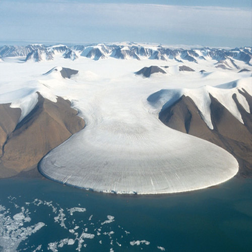 A glacier in Greenland. Over 270 gigatons of water is melting into the oceans annually. One gigaton of water is enough for 17 million people. Via fyeah-icebergs. More at the Telegraph. Follow Climate Adaptation.