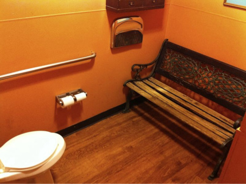 jasonpermenter:  Just encountered this setup in a restaurant's bathroom. I find myself both 'uncomfortable' and 'inspired' at the very same time.