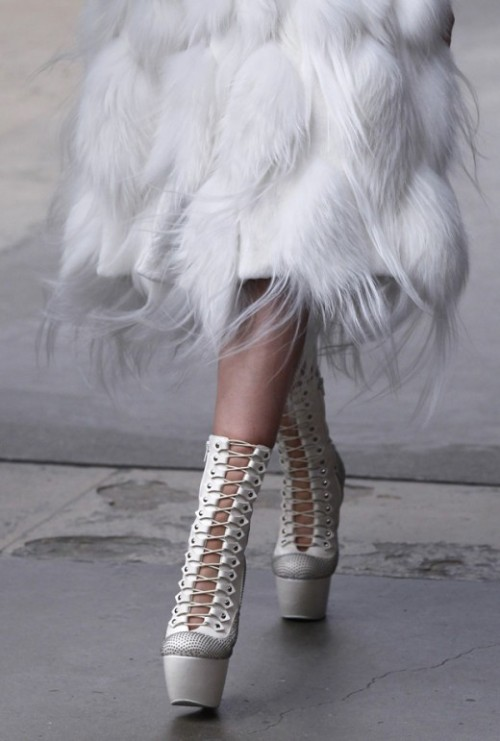McQueen booties up close!