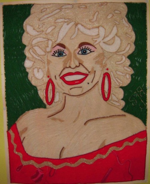 Dolly Parton Yarn Art There are so many important ideas becoming realities in the world right now. I'm so blessed to know about them. This is only $200 so buy it before I do