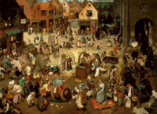 The Fight Between Carnival and Lent by Pieter Bruegel the Elder, 1559, oil on oak panel, 118 x 164.5 cm, Kunsthistorisches Museum, Vienna