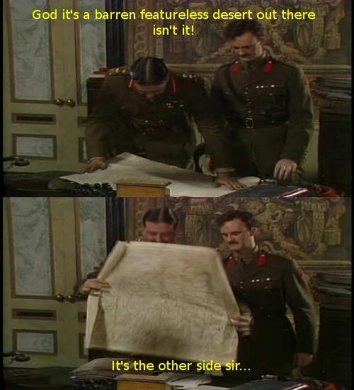 dugahole:  One of my favourite Blackadder jokes.  My tumblr is in dire need of more Blackadder.