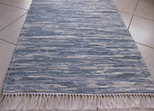 If you have a loom, try making a recycled denim rug by cutting jeans into strips and weaving them together, as seen on ecouterre.