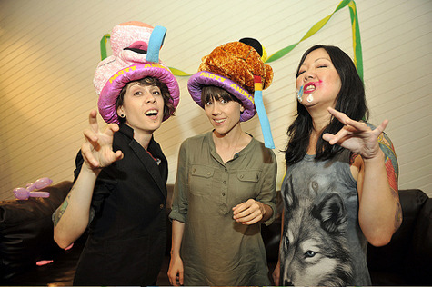 teganandsara:  with margaret cho photo by lindsey byrnes