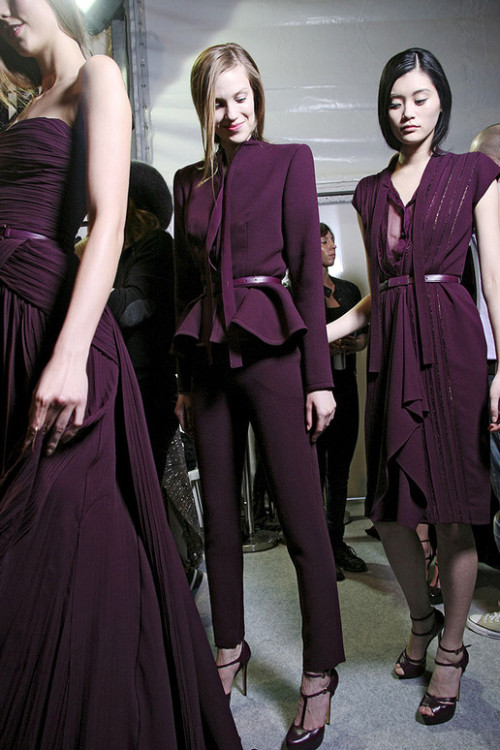 Backstage at Elie Saab Fall 2011/Winter 2012 RTW