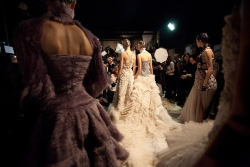 Backstage at Alexander McQueen Fall 2011/Winter 2012 RTW