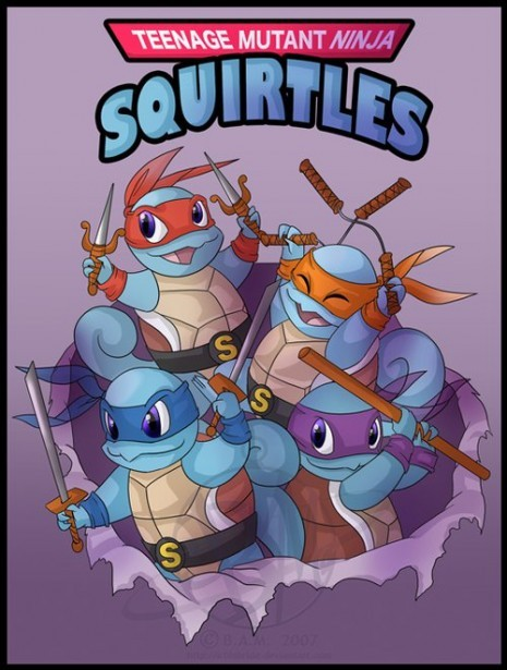 lionheart21:  Teenage Mutant Ninja Squirtles  LOL oh man this is awesome