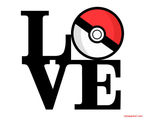Poké Love by Ben Wenrich USD$10 for 24 hours only Designer Note:  I came up with this design because I love Pokemon and Robert Indiana's 'Love' sculpture.