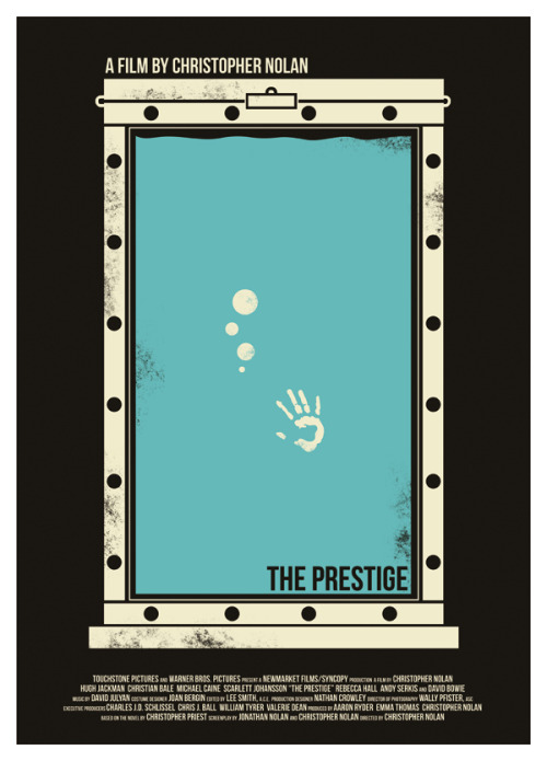 minimalmovieposters:  The Prestige by Dan Sherratt  this movie is fantastic. you can't go wrong with Christopher Nolan directing Christian Bale and Michael Cain….  and Hugh Jackman too :)