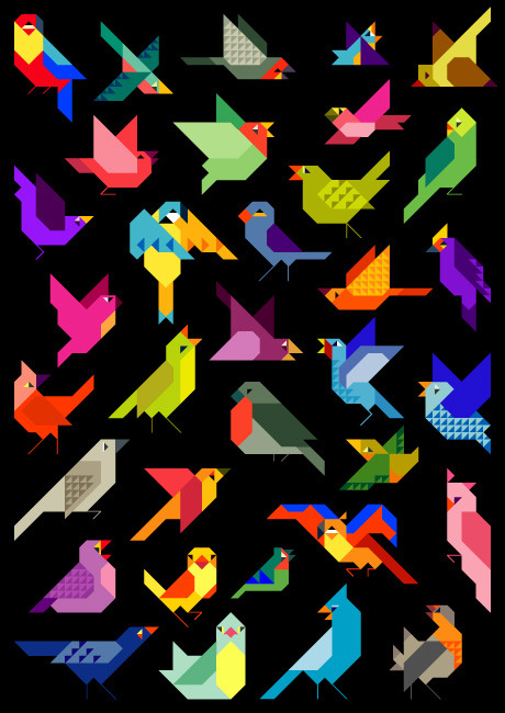 These would make beautiful quilts! curioos-arts:  Yegor Legkov (Russia) - http://bit.ly/esFp6s -