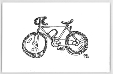 Hey look! My shitty 10-second bike drawing from memory finally made it on to bikedrawings! yeah!  bikedrawings:  Tod C Parkhill is a Graphic Artist in Richmond, VA todorrobot.com