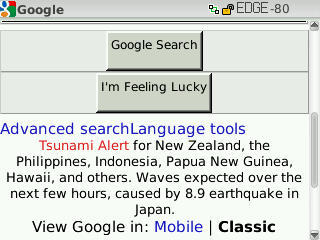 I love the way Google alerts us about some potential Tsunamis caused by 8.9 earthquake in Japan. God bless us….