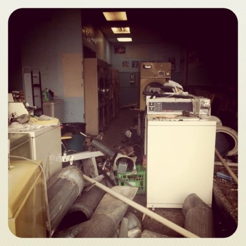Deconstruction of a laundromat (Taken with instagram)