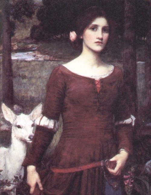 windypoplarsroom: 1900 John William Waterhouse (English 1849-1917) ~ The Lady Clare