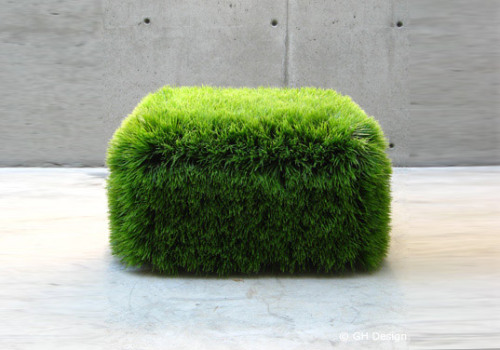 Grass Ottoman is a Living Growing Chia Chair by GH Design