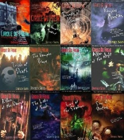 "spacehamsters:  30 Day Book Challenge Day 3 ""Your Favorite Series"" Cirque Du Freak by Darren Shan OMG THESE ARE THE BEST BOOKS IN THE WORLD!!!!! These are probaly the books that have influenced me the most.  They are about vampires but not HORRIBLE TWILIGHT VAMPIRES. (I HATE THEM) These are a great coming of age books that I love and everyone, EVERYONE should read them!!"