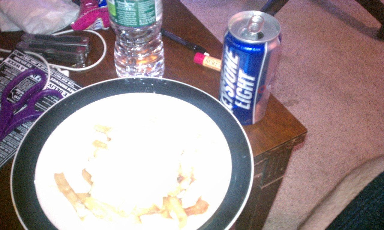 Leftovers and beer.#Springbreaklife