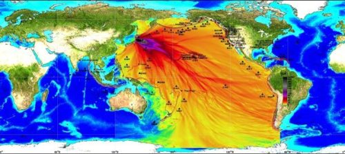 This map from NOAA's Pacific Marine Environmental Lab in Seattle shows  the projected path of the tsunami. The scientists projections have so  far matched actual water levels very well. The most damaging waves on  the U.S. coast are directed at Crescent City, Calif. (Photo/Text via Seattle Times)