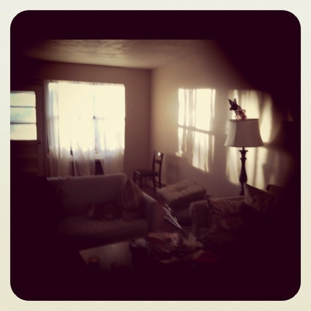 Forgot what the sun looked like coming through our windows (Taken with instagram)