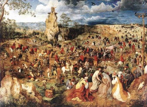 Christ Carrying the Cross by Pieter Bruegel the Elder, 1564, oil on oak panel, 124 x 170 cm, Kunsthistorisches Museum, Vienna