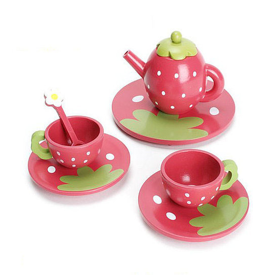 I wouldn't mind having a strawberry tea set either. ;]