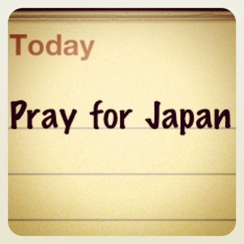 My heart goes out to everyone in Japan. Lets pray for them and hopefully they will get through this as soon as possible ='(